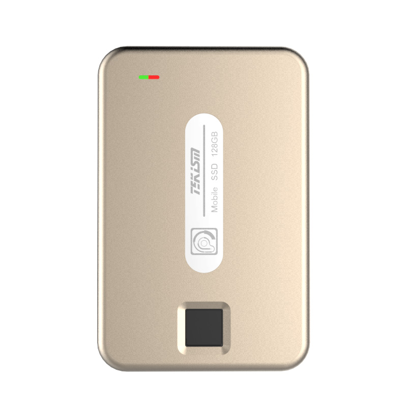 TEKISM特科芯 TEK1 PRO 128GB 指纹加密移动固态硬盘 香槟金