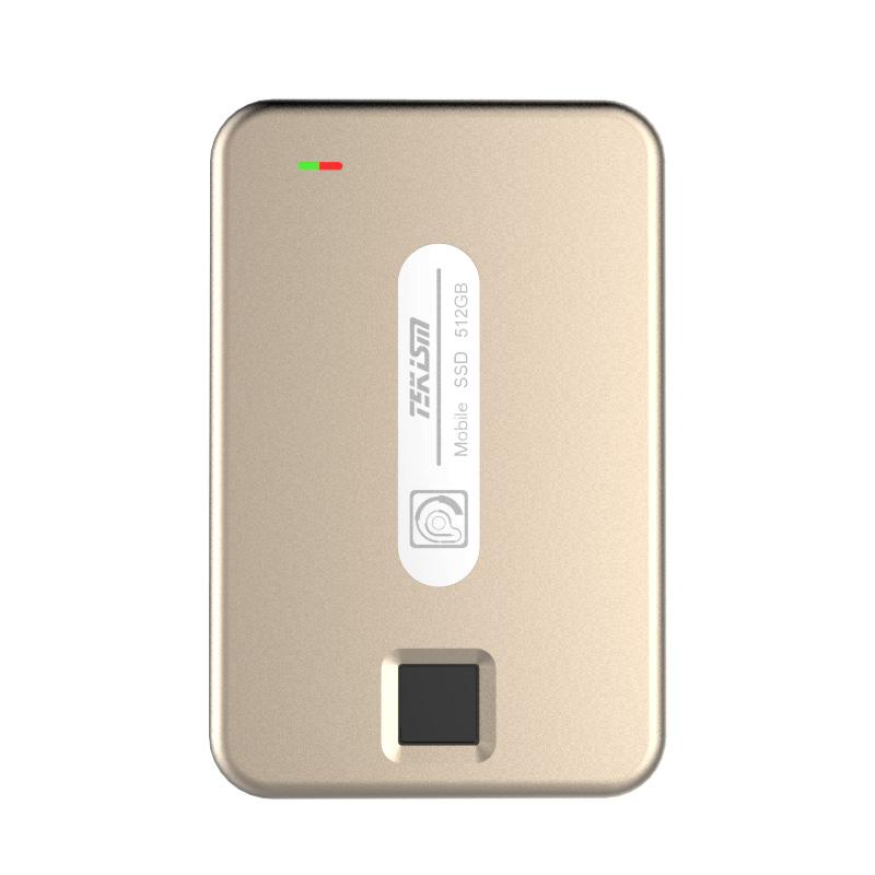 TEKISM特科芯 TEK1 PRO 1TB 指纹加密移动固态硬盘 香槟金
