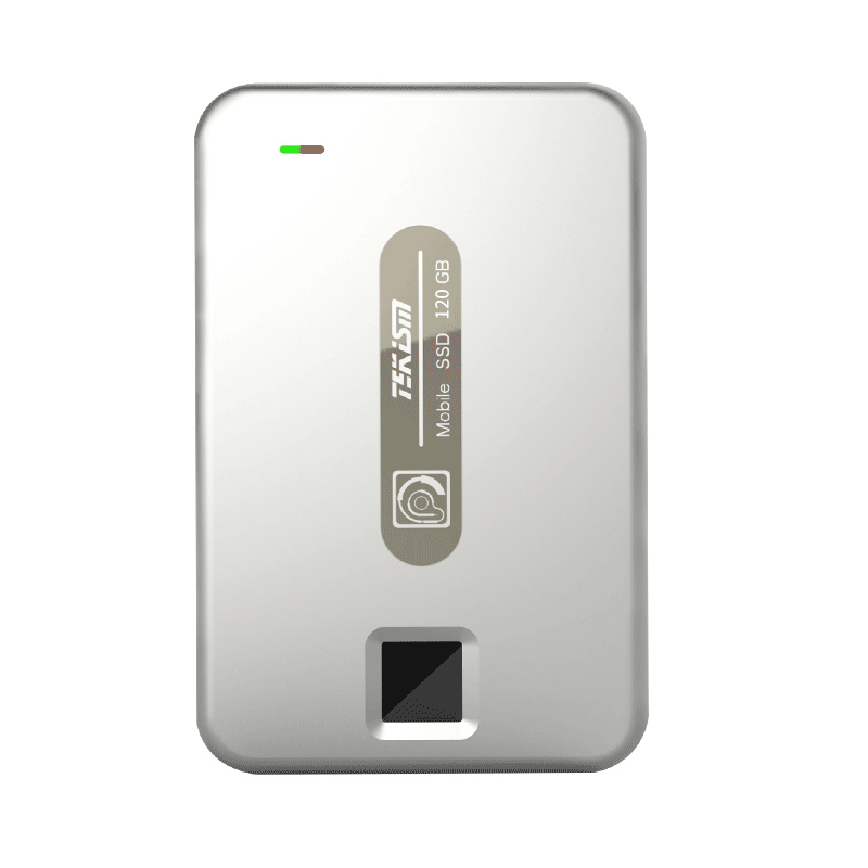 TEKISM特科芯 TEK1 PRO 120GB 指纹加密移动固态硬盘 爵士银 青春版