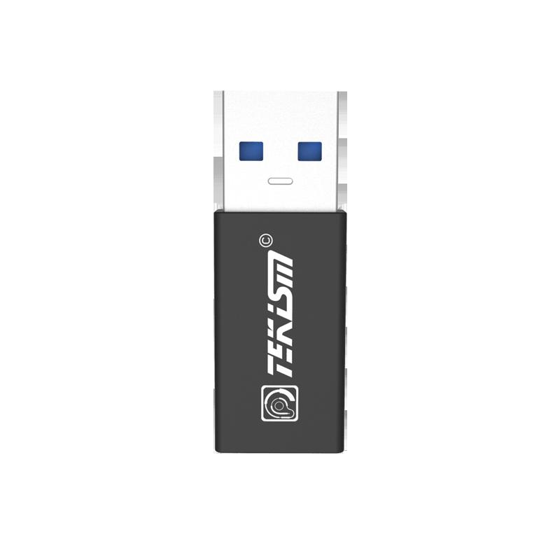 TEKISM特科芯 USB A口转 USB3.1 Type-C手机数据充电线转换头(双面对等传输)