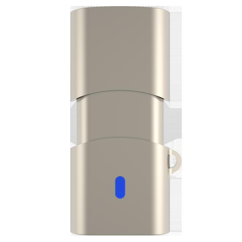 TEK350USB3.1Type-C极速C口U盘金属机身读速高达420MB/s 香槟金 128G