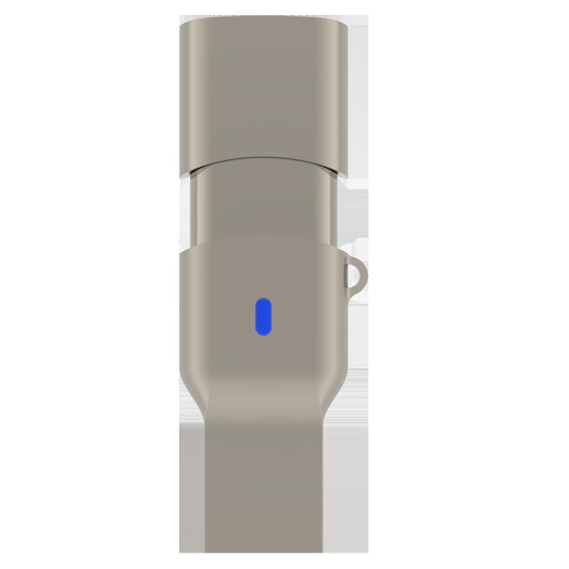 TEK360 USB3.1A/C至尊极速双接口U盘 读速高达420MB/s 香槟金 128G