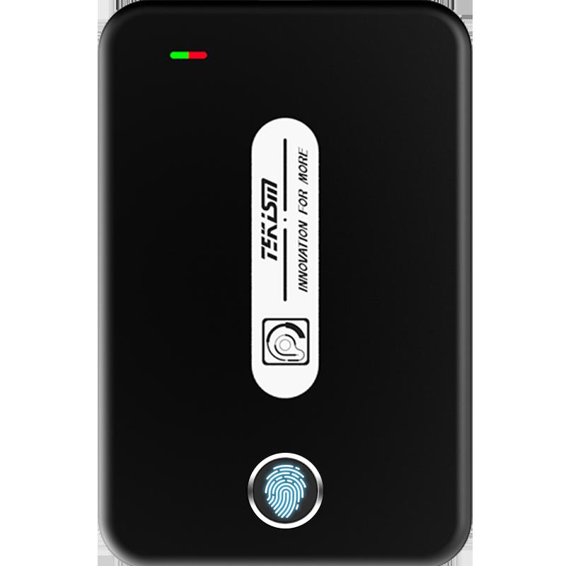 特科芯(TEKISM) TEK1 PRO Gen 2指纹加密移动固态硬盘 外置指纹固态硬盘 典雅黑 256G